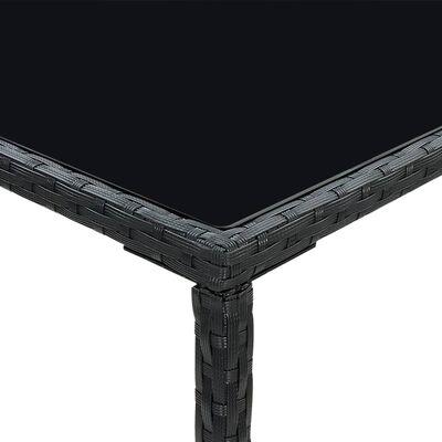 vidaXL Bargrupp för trädgården 3 delar konstrotting svart