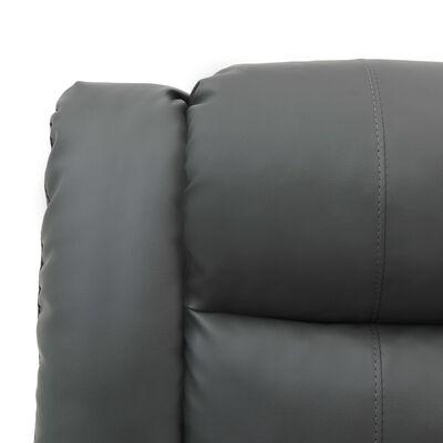 vidaXL Ställbar fåtölj grå konstläder