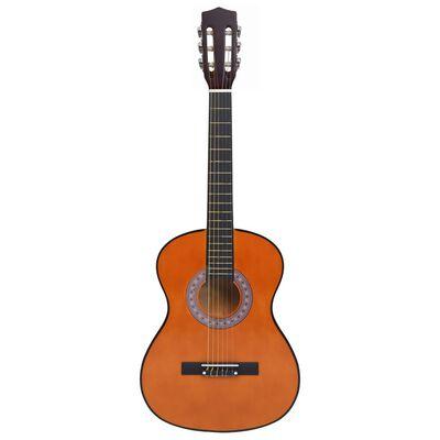 """vidaXL Gitarr för nybörjare med fodral klassisk 3/4 36"""""""
