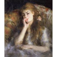 Young Woman Seated(The Thought),Pierre Renoir,66x55.5cm
