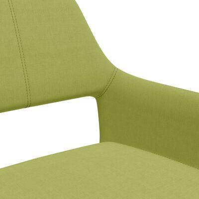vidaXL Matstolar 4 st grön tyg
