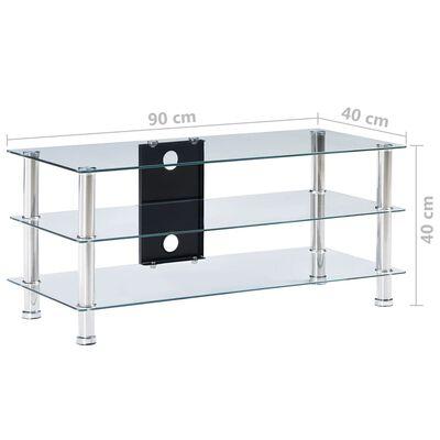 vidaXL TV-bänk transparent 90x40x40 cm härdat glas