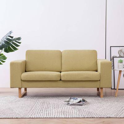 vidaXL 2-sitssoffa tyg grön