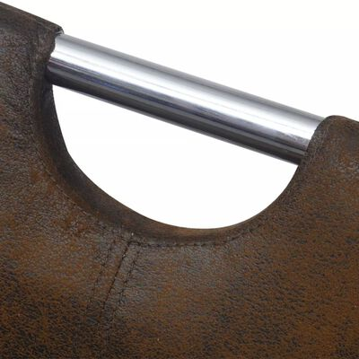 vidaXL Matstolar 6 st brun tyg