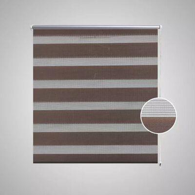 Rullgardin randig brun 70 x 120 cm transparent