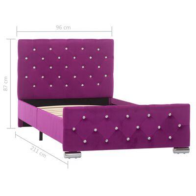 vidaXL Sängram lila tyg 90x200 cm, Purple
