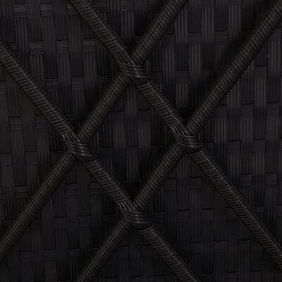 vidaXL Solsäng med dyna konstrotting svart