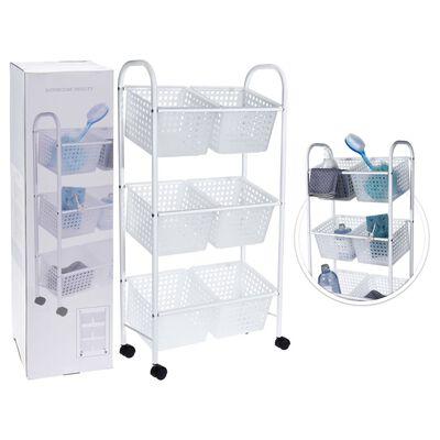 Bathroom Solutions Badrumsvagn med 6 korgar