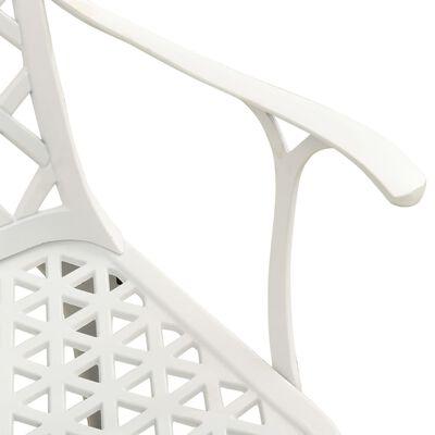 vidaXL Caféset 3 delar gjuten aluminium vit