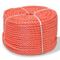 vidaXL Tvinnat rep i polypropylen 6 mm 500 m orange