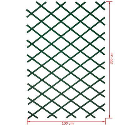 Nature Trädgårdsspaljé 100x200 cm PVC grön 6040704