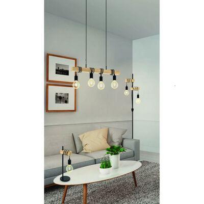 EGLO Hänglampa Townshend 4 lampor trä svart och beige