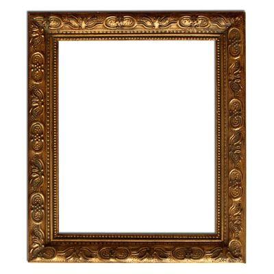 27x32 cm eller 11x13 tum, spegel i guld