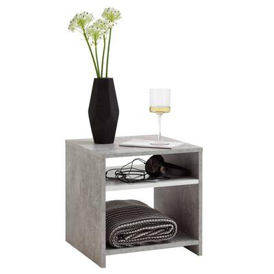 FMD Soffbord med hylla betonggrå och vit