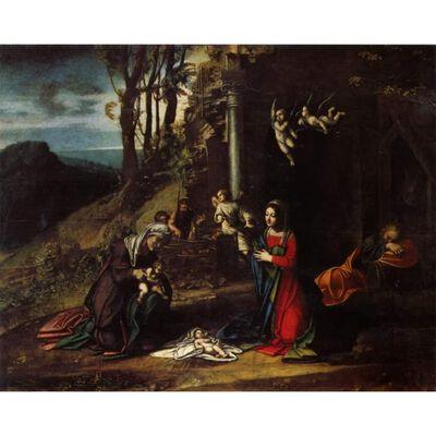 Modonna and Child with Saint Elizabeth and,Correggio,50x40cm