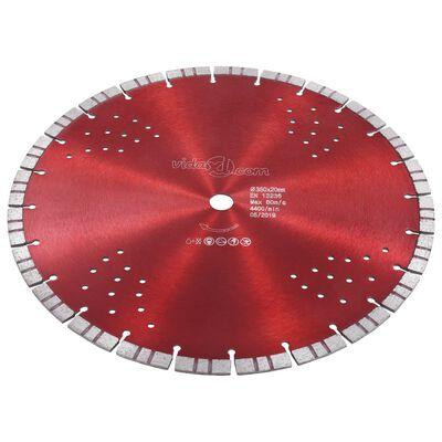 vidaXL Diamantklinga med Turbo Steel och hål 350 mm