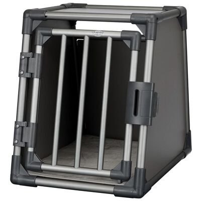TRIXIE Lutande hundtransportbur aluminium strl. S grafitgrå 39335