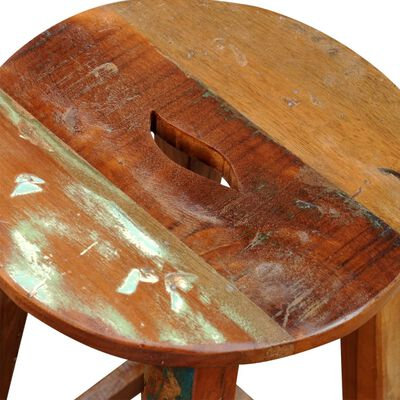 vidaXL Barstol massivt återvunnet trä