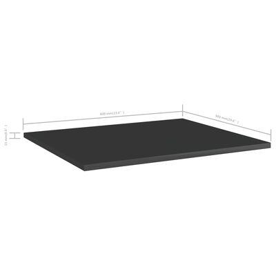 vidaXL Hyllplan 8 st svart högglans 60x50x1,5 cm spånskiva
