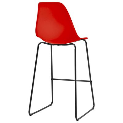 vidaXL Bargrupp 5 delar plast röd, Red