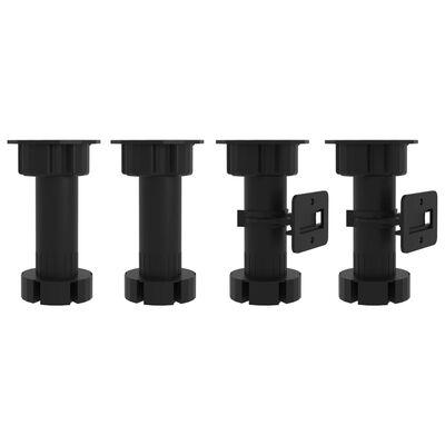 vidaXL Köksskåp för mikrovågsugn svart 60x57x207 cm spånskiva, Black