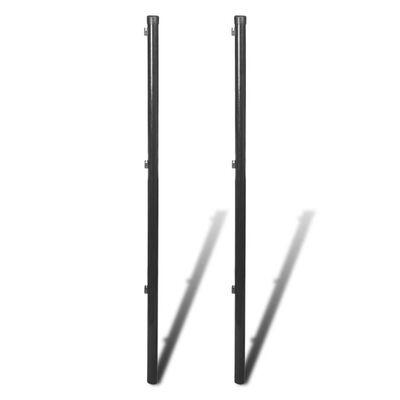vidaXL Staketstolpe för flätverksstängsel 2 st 170 cm