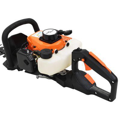 vidaXL Häcksax bensindriven 722 mm orange och svart