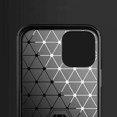iPhone 12 Pro Max Skal - Exklusivt Stöttåligt Skal - Kolfiber,