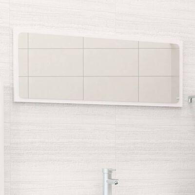 vidaXL Badrumsspegel vit högglans 90x1,5x37 cm spånskiva, Highglosswhite