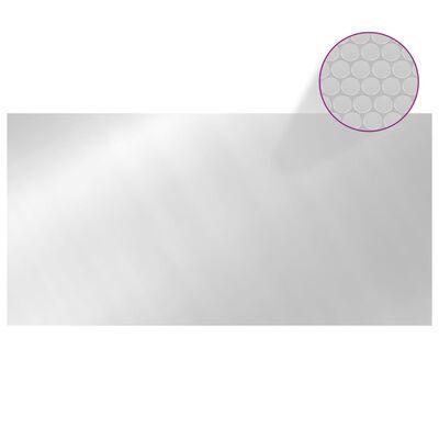 vidaXL Poolskydd silver 600x300 cm PE