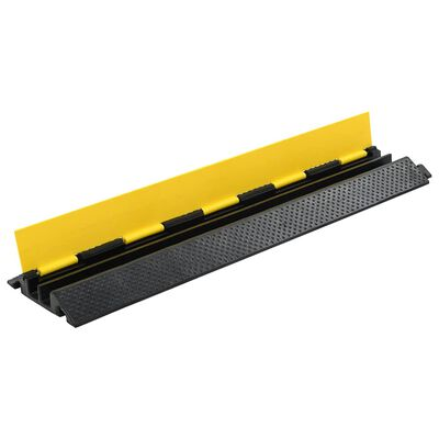 vidaXL Kabelskydd 2 kanaler gummi 101,5 cm