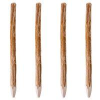 vidaXL Staketstolpar spetsiga 4 st hasselträ 150 cm,