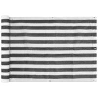 vidaXL Balkongskärm HDPE 75 x 400 cm antracit och vit