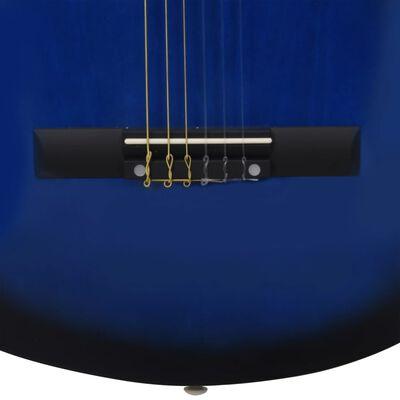 """vidaXL Klassisk gitarr för nybörjare 8 delar blå 1/2 34"""""""