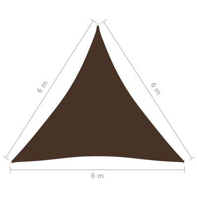 vidaXL Solsegel oxfordtyg trekantigt 6x6x6 m brun