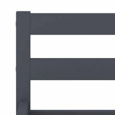 vidaXL Sängram grå massiv furu 160x200 cm