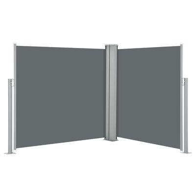 vidaXL Infällbar sidomarkis antracit 120x600 cm