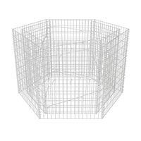 vidaXL Hexagonal planteringsgabion upphöjd 160x140x100 cm
