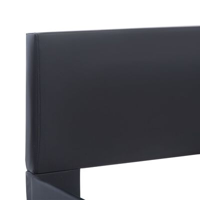 vidaXL Sängram med LED svart konstläder 180x200 cm