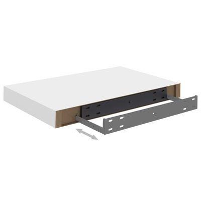 vidaXL Svävande vägghyllor 4 st vit 40x23x3,8 cm MDF