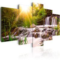 Tavla - Forest Waterfall - 100x50 Cm