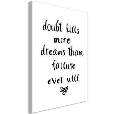 Tavla - Doubts And Dreams (1 Part) Vertical - 60x90 Cm