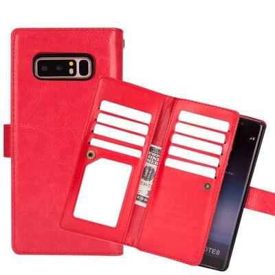 Dubbelflip Flexi 9-kort Samsung Galaxy Note 8 (SM-N950F) Röd