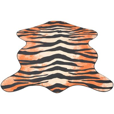 vidaXL Formad matta 150x220 cm tigermönster