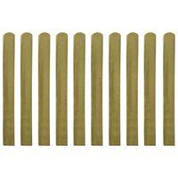 vidaXL Impregnerade staketribbor 10 st trä 100 cm