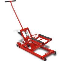 vidaXL Hydraulisk MC-/ATV-lyft 680 kg röd