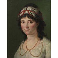Portrait of a Young Woman,Zacarias Gonzalez Velazquez,45x35cm