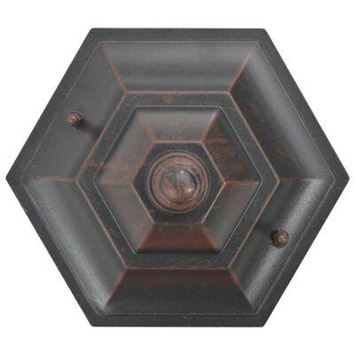 vidaXL Lyktstolpar för trädgård 6 st E27 110 cm aluminium brons