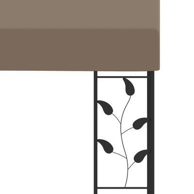 vidaXL Väggmonterad paviljong 6x3x2,5 m taupe