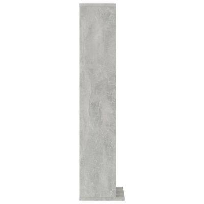 vidaXL CD-hylla betonggrå 21x20x88 cm spånskiva